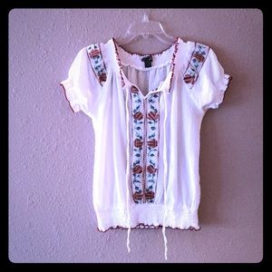 Bohemian blouse embroidery
